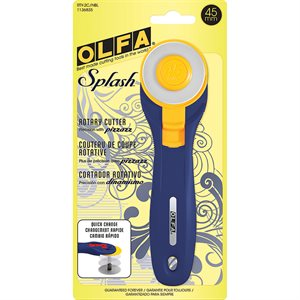 45MM SPLASH NAVY ROTARY CUTTER BY MODA - PK. 1 / MINIMUM OF 2