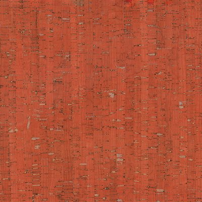 """CORK FABRIC 18"""" X 15"""" BY MODA - RED / SILVER - MULTIPLE 3"""