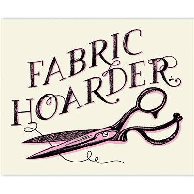 "ART PRINTS FABRIC HOARDER 8"" X 10"" BY CRAFTEDMOON FOR MODA - MINIMUM OF 2"