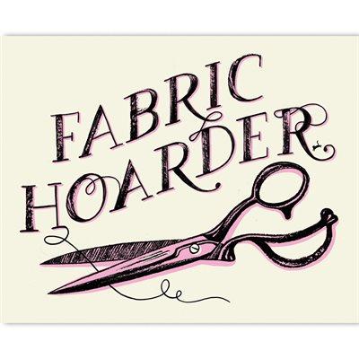"ART PRINTS FABRIC HOARDER 5"" X 7"" BY CRAFTEDMOON FOR MODA - MINIMUM OF 3"