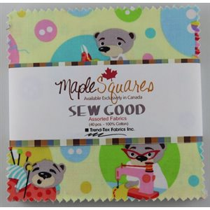 SEW GOOD MAPLE SQUARES - 40 PCS. / PACKS OF 12