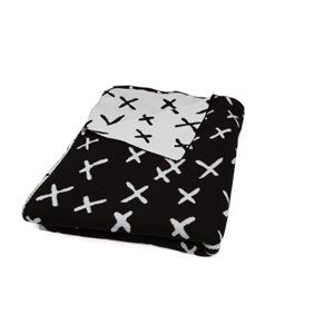 BLACK WHITE X THROW BY MODA - MIN. 1